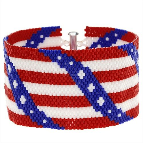 118 best images about patriotic beaded on pinterest for Patriotic beaded jewelry patterns