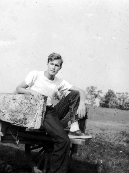 George Bush circa 1940.  -from the Bush Library