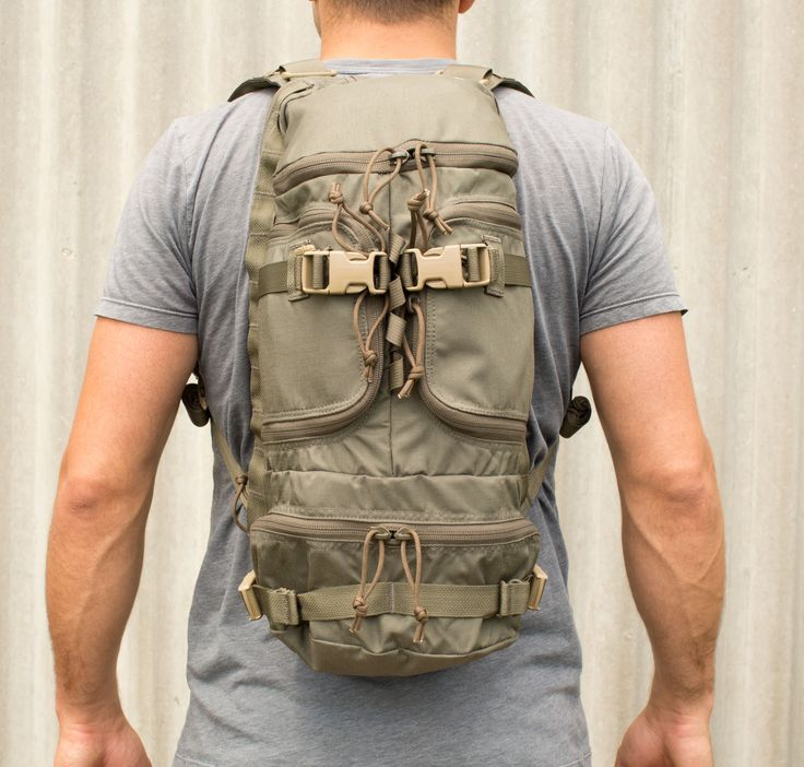 Multi-Purpose Pack | First-Spear.com  Originally developed as a medical pack for a US Special Operations unit, this pack can easily be adapted for use as a range bag, E&E pack, or 1 day pack. Features include hydration compartment, padded shoulder straps, 5 external pockets and compression straps.