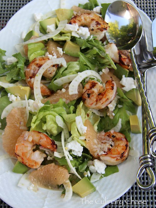 ... Chase: Avocado, Fennel and Grapefruit Salad with Grilled Shrimp