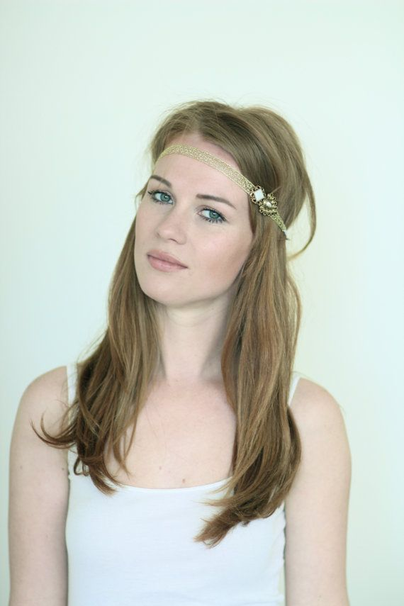 Skinny Gold Hippie Headband  Elegant and Versatile by MSaHeadbands, $19.00