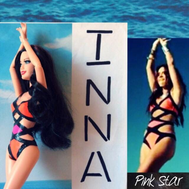 """i love inna and i made this barbie inspired of her, singing the song """" More Than Friends """" feat Daddy Yankee."""