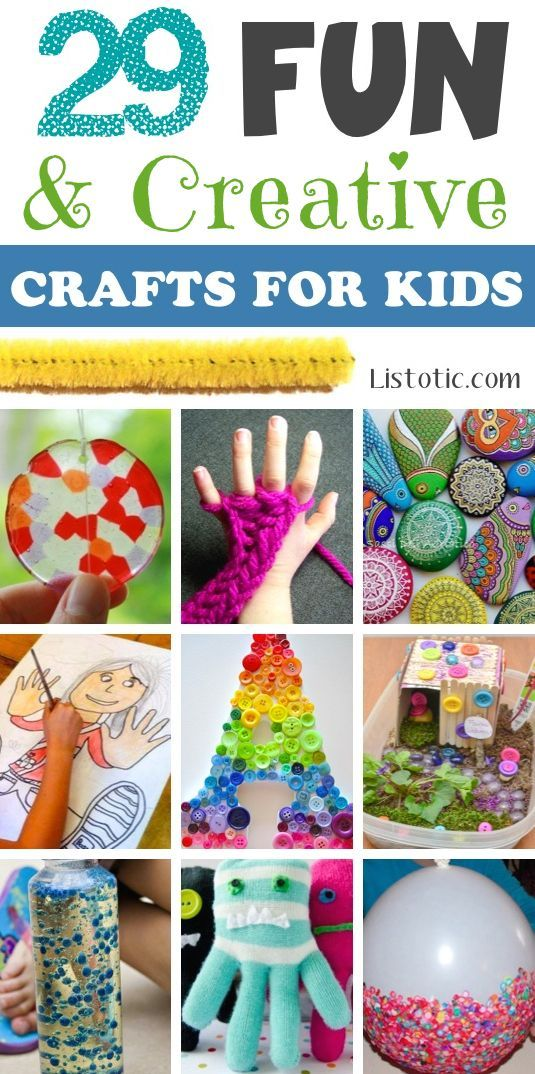 A ton of SUPER clever crafts and activities for kids! Teaches them creativity, helps with their focusing skills, and gives them the confidence that even a simple accomplishment can bring. | Listotic.com