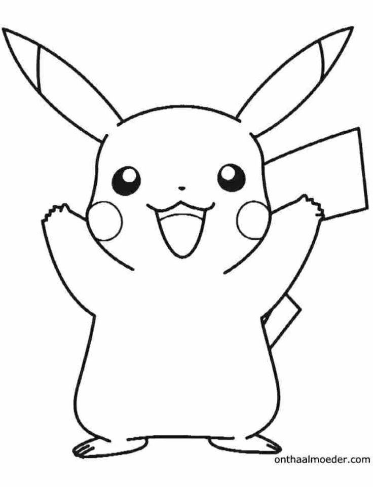 Kleurplaat pikachu pokemon