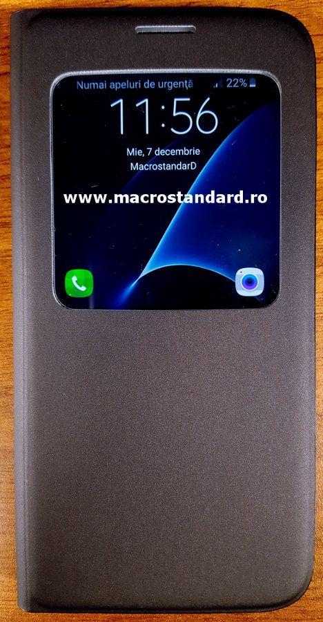 Husa S-View cover Samsung EF-CG930 pentru Samsung Galaxy S7
