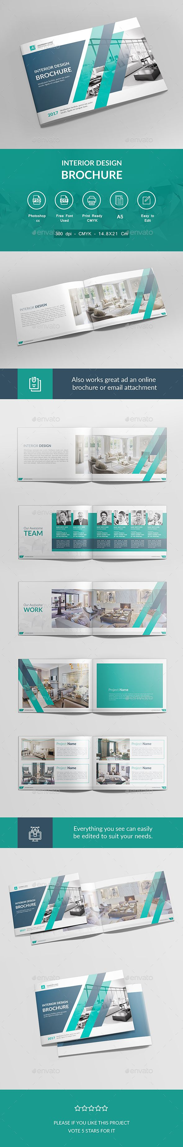 Interior Design Brochure Template PSD