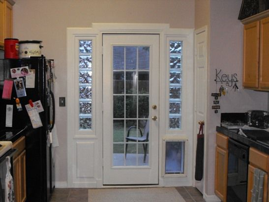 Tore Out French Doors Built In Door Glass Block Doggie Door In Old House A