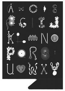 Photogram ABC I like the idea of a letter K made out of keys