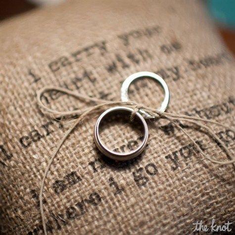 Decorating With Burlap | Burlap Ring Pillow