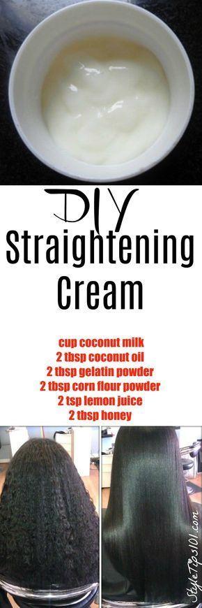 DIY Hair Straightening Cream