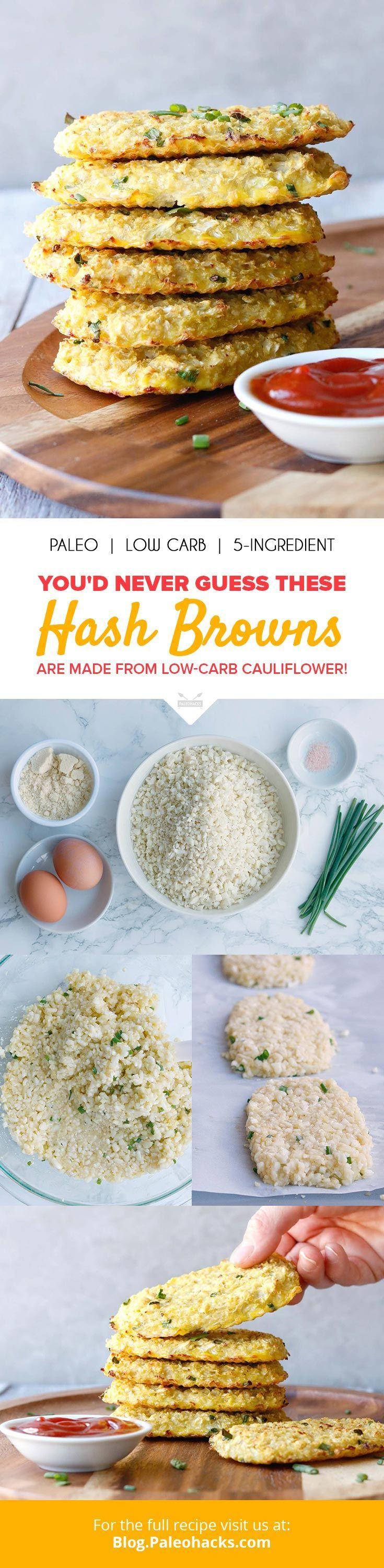 Cauliflower Hash Browns Recipe Healthy recipes
