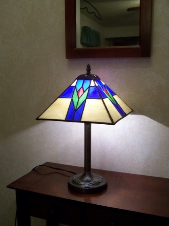73 best stained glass lamps images on pinterest night lamps stained glass prairie style lamp aloadofball Gallery