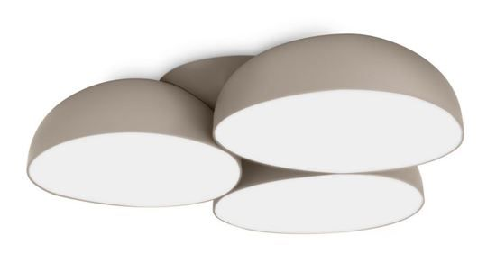 Plafonniere Stonez Grijs (12x2,5W) ,fraaie strakke designlamp past in elk huis.