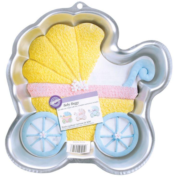 """Wilton Novelty Cake Pan-Baby Buggy 11.25X11.25""""X2"""" - baby buggy 11.25""""x11.25""""x2"""" baby buggy 11.25""""x11.25""""x2"""""""