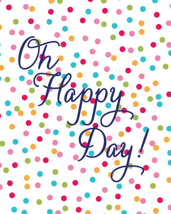 Oh Happy Day! Print | Crystal Faye
