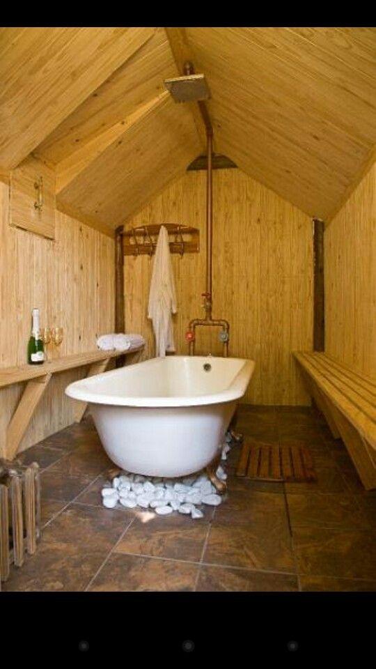 16 Best Saunas Amp Diy Wood Heated Hot Tubs Images On
