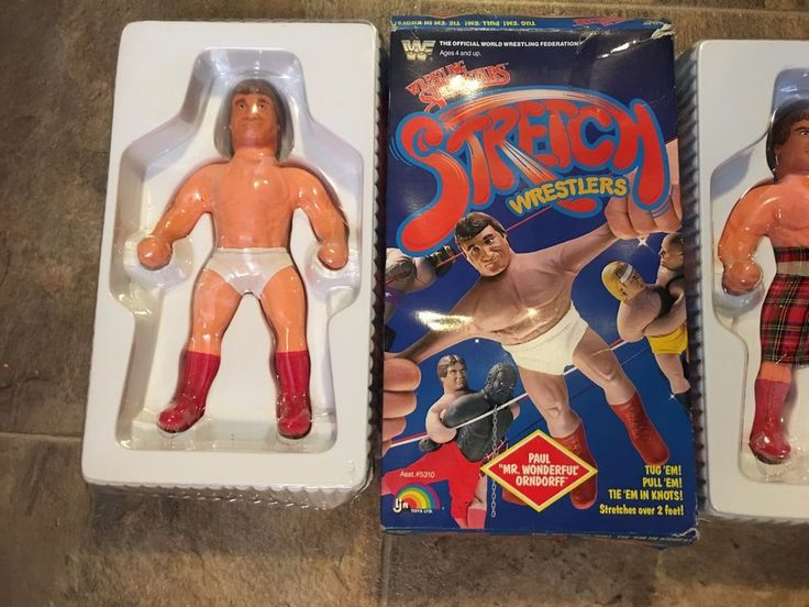WWF Stretch Wrestler PAUL ORNDORFF Wrestling Superstars Complete w Box LJN #LJN
