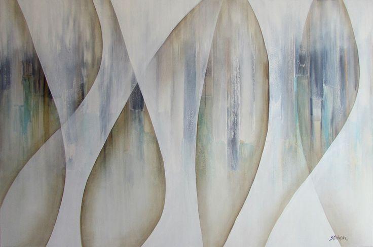 Duże obrazy abstrakcyjne na  ścianę - obrazy Sylwia Michalska