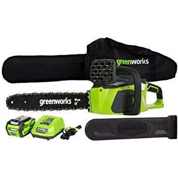 """GreenWorks 16"""" G-Max Cordless Chainsaw w/ Battery & Charger $114.60  Free In-Store Pickup #LavaHot http://www.lavahotdeals.com/us/cheap/greenworks-16-max-cordless-chainsaw-battery-charger-114/220431?utm_source=pinterest&utm_medium=rss&utm_campaign=at_lavahotdealsus"""