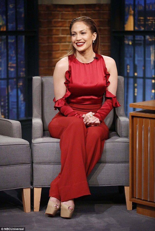 Toyboy: Jennifer Lopez hinted that her relationship with Casper Smart is not a serious one on Seth Meyers n Tuesday night