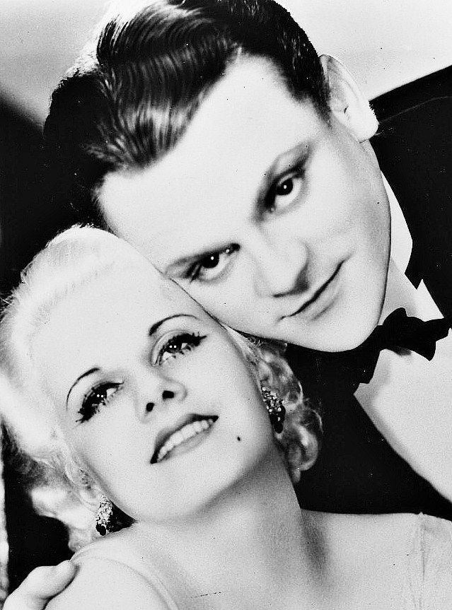 James Cagney and Jean Harlow in a promotional still for The Public Enemy (1931).