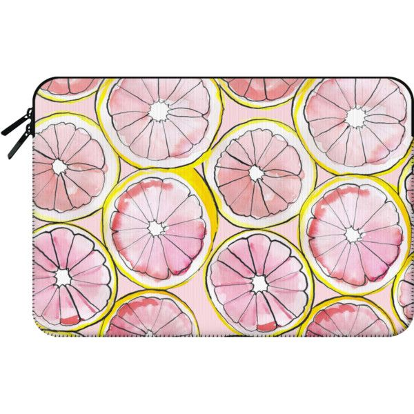 Grapefruit laptop case - Macbook Sleeve ($60) ❤ liked on Polyvore featuring accessories, tech accessories, macbook sleeve, macbook pro laptop case, laptop sleeve cases and macbook laptop case