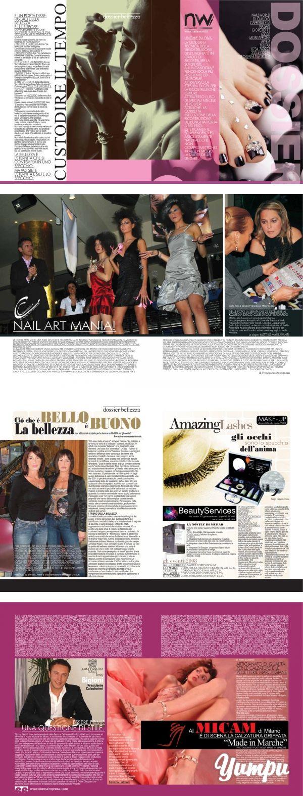 CUST ODIRE IL TEMPO - Donna Impresa Magazine - Magazine with 5 pages: CUST ODIRE IL TEMPO - Donna Impresa Magazine