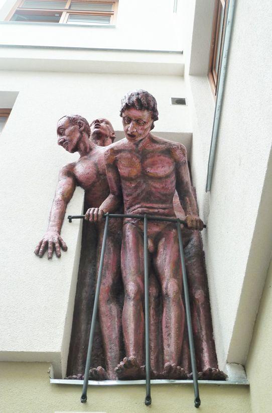 Curious guys | Michal Trpák (2013) Installed in Ceske Budejovice, Czech Republic