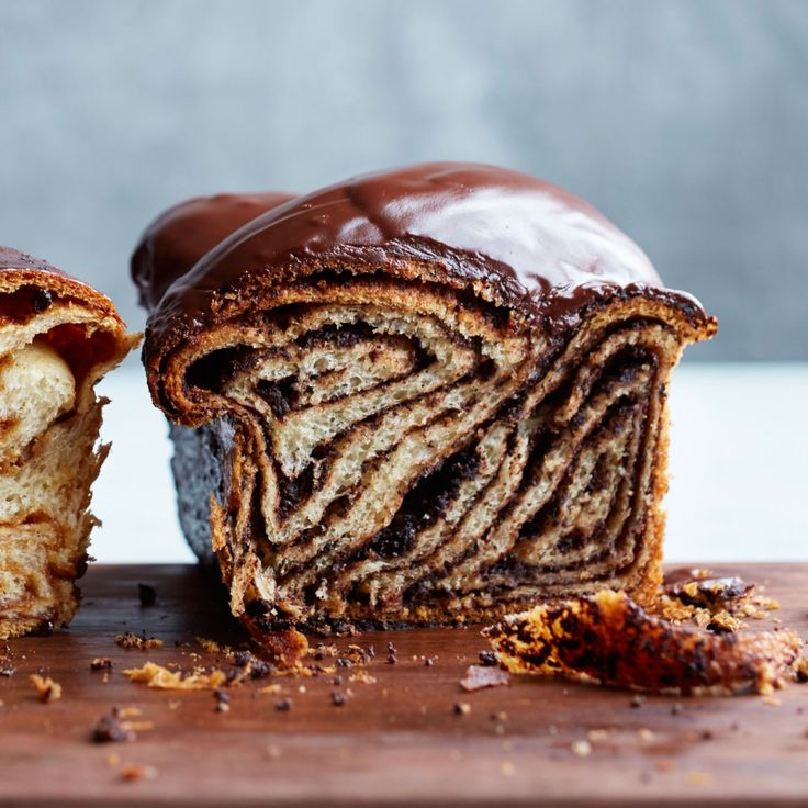 Chocolate Babka   This amazing chocolate babka from pastry chef Melissa Weller at Sadelle's in New York City gets extra flavor in the swirl from chocolate cookie crumbs. As a bonus, the tender-crumbed babka is topped with a thick and luscious chocolate glaze.