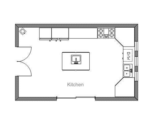 Draw Kitchen Floor Plan: 7 Best Kitchen Images On Pinterest