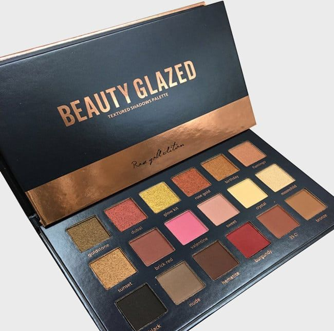 """Promising Review: """"I was really surprised at how pigmented it came. It's the perfect dupe for the Huda Beauty Rose Gold palette. The foiled shadows are great, and I will be ordering one for my niece soon."""" —Amazon Customer Get it from Amazon for $10.38."""