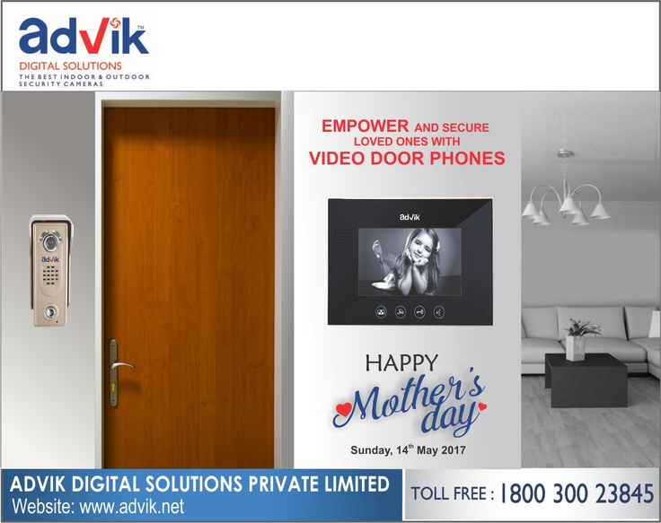 Empower your loved ones with Advik's #VideoDoorPhones for a #safer today and alerter tomorrow. Order yours today.