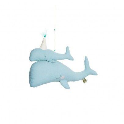 Mobile baleines Calypso Bleu  Scalaë