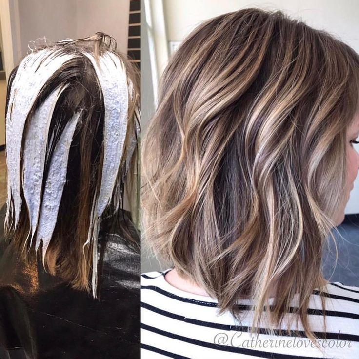 техника окрашивания балаяж на короткие волосы фото нас самая большая