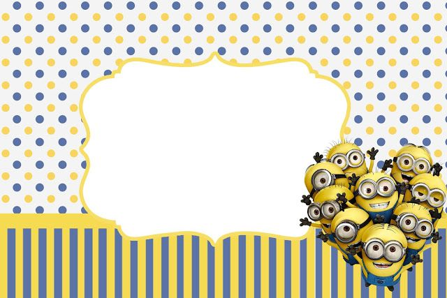 Inspired in Minions Party Invitations, Free Printables. | Oh My Fiesta! in english