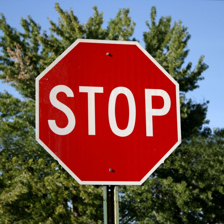 Regulatory stop signs in stock