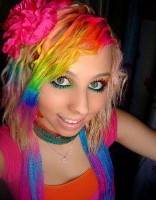 cute dooCrazy Hair, Rainbows Hair, Hair Colors, Girls Generation, Rainbow Hair, Rainbows Colors, Hair Makeup, The Waves, Colors Hair