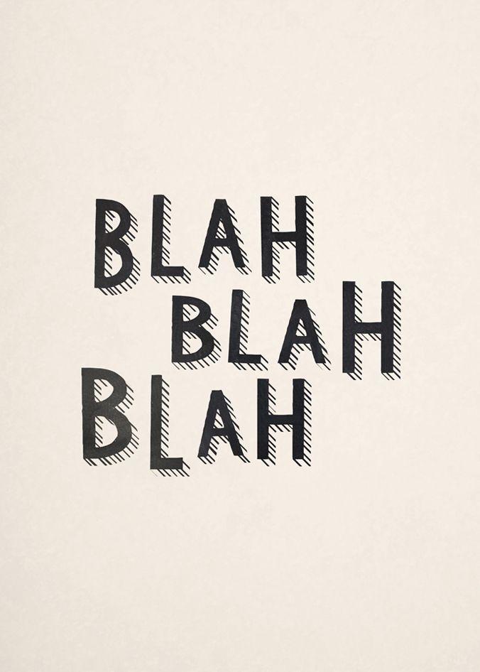 blah-blah-blah-quote