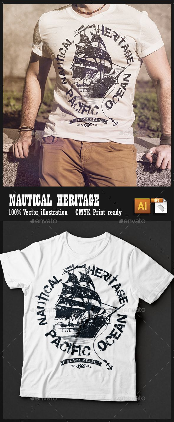 White t shirt eps - Nautical Heritage Epst Shirt