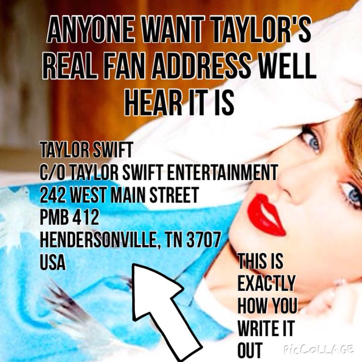 This is real..  signed up for Taylor Nation emails and they always put this address on the bottom
