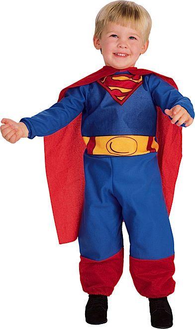 Baby Superman Fancy Dress Superhero Infant Toddler Costume Ages 6-12 M & 1-2 Y