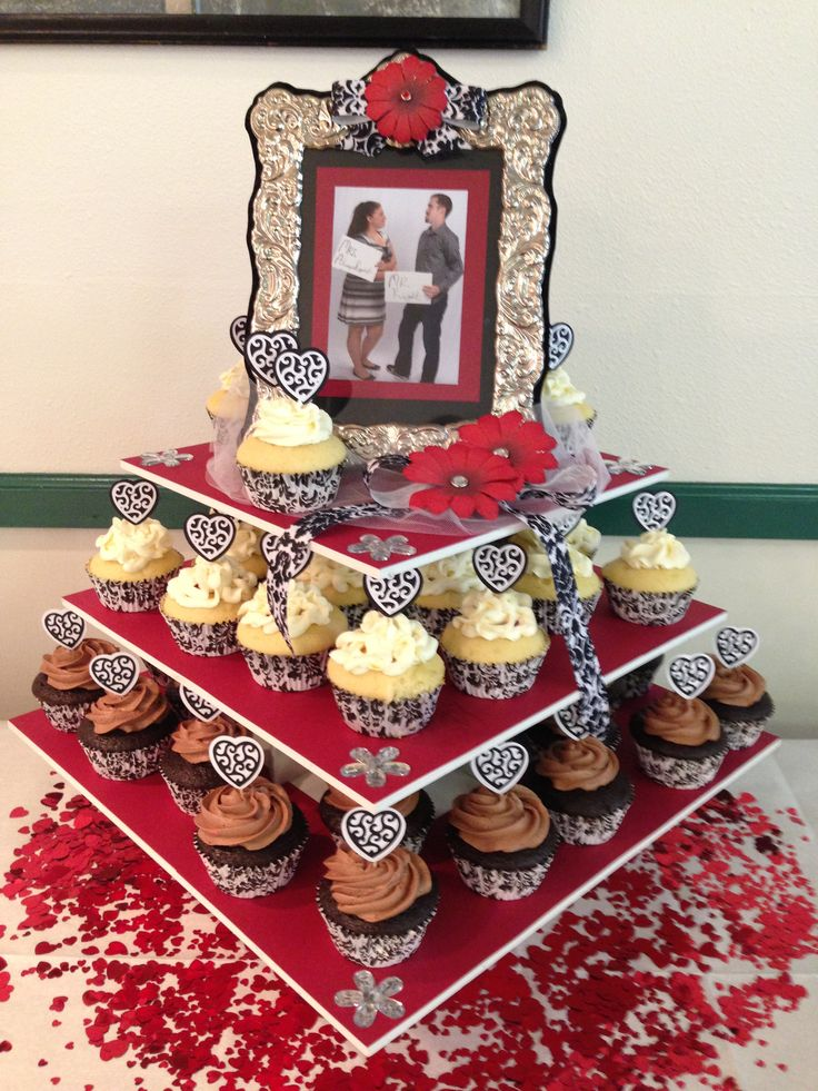 Kimberly's Engagement Party 8/10/13 - Square Cupcake Tower Display: http://www.thesmartbaker.com/5-tier-square-cupcake-tower/
