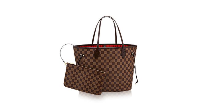 Discover Louis Vuitton Neverfull MM: Legendary Neverfull: always exactly what you need it to be. Capacious but not bulky, structured yet supple, at home on the town or in the country. Cinch the side laces, and voilà! it's a sleek city bag. Loosen them and you have a chic, practical tote. The slim leather handles fit over the shoulder or on the arm. Shown here in Damier Ebène canvas.