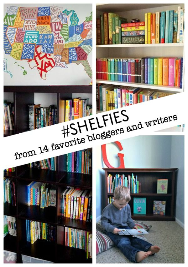 attention book lovers -- check out these amazing shelfies from 14 favorite bloggers and children's book writers!!