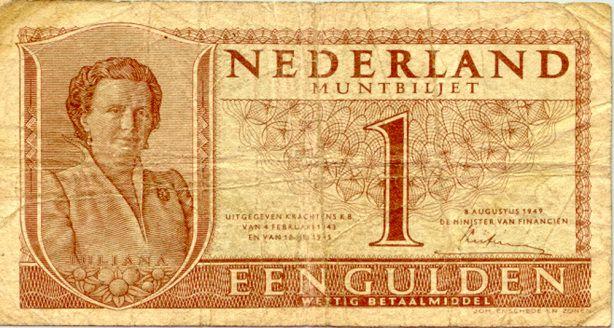 Bankbiljet van 1 gulden