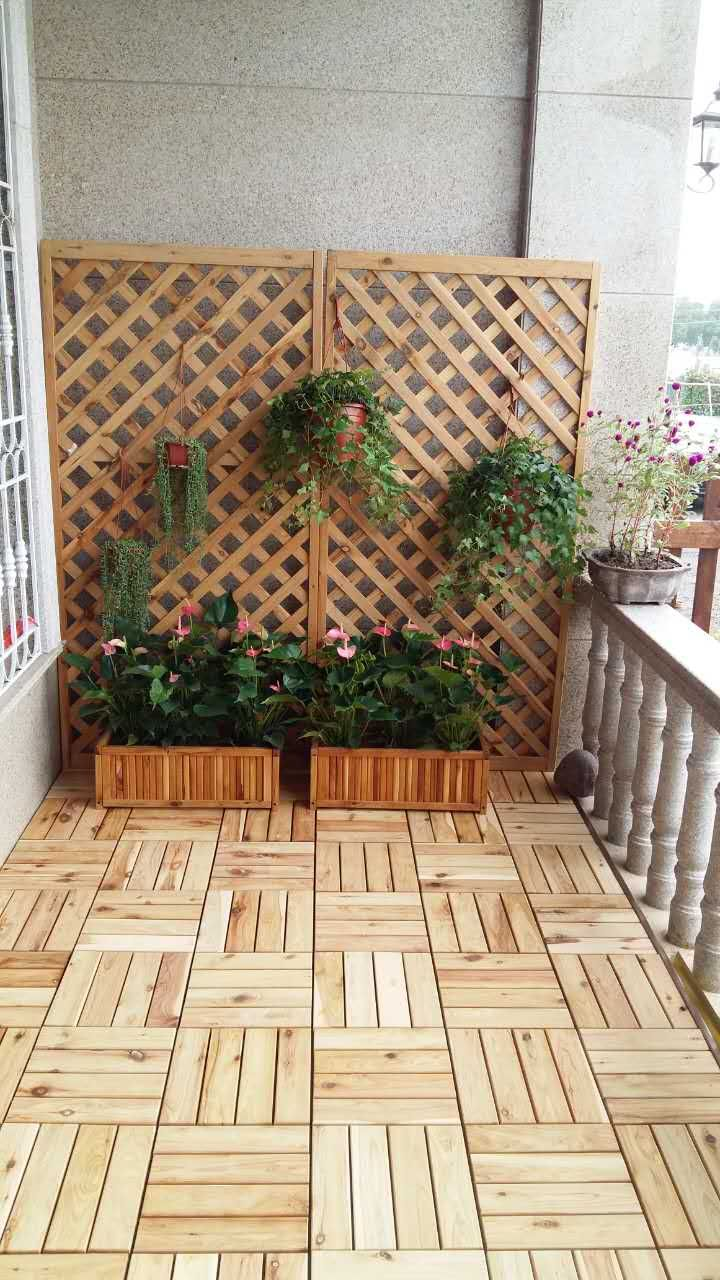 About One Houru0027s Work And This Is Now Are Pleasant And Useable Space. Our  Durable Australian Cypress Lattice Panels And Planters On Click Together  Deck ...