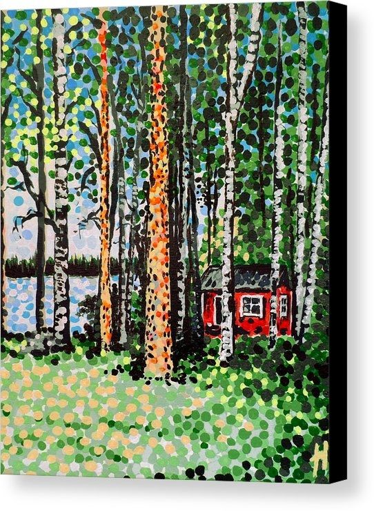 ...Sold!! :D @fineartamerica .. thanks to the person from Maple Grove, Minnesota in the U.S.A. who recently purchased this print of 'The Escape Hut' from my Fine Art America webstore. Much appreciated and Happy Holidays!!! #sold #sales #art #arte #taide #konst #paintings #artists #sauna #hut #trees #faa #fineartamerica