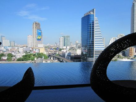 Eastin Grand Hotel Sathorn in Bangkok, Thailand. Fabulous hotel with entrance to the sky train to take you all around Bangkok. Fabulous service! We will stay here again!