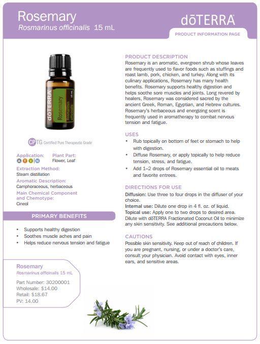 doterra tea tree uses | doTERRA Rosemary Essential Oil 15ml - My Natural Family