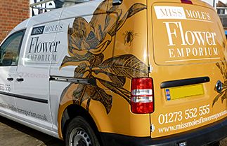 digitally printed partial wrap - Sussex Sign Company, vehicle wrapping, signwriting